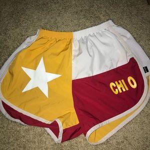 Texas Chi Omega Flag Shorts, Size XS